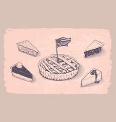 american pie vector image