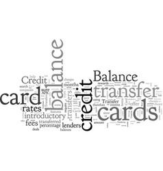 Balance transfers credit card primer vector