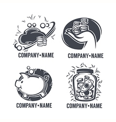 Banking emblems vector