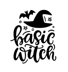 Basic witch halloween party poster vector