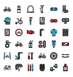 Bicycle accessories vector