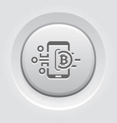 bitcoin wallet button icon vector image