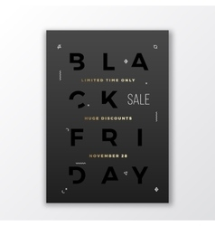 Black Friday Swiss Style Minimal Poster or Flyer vector