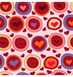Bright Valentine seamless pattern with hearts vector image vector image