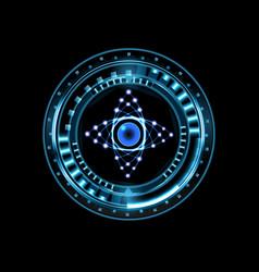 Brilliant technological eye hud isolated on a vector
