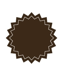 Brown circular badge icon vector