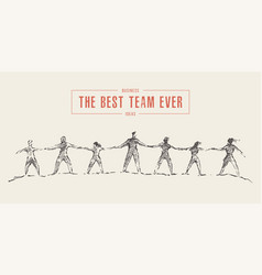 Business people hold hands spirit best team vector