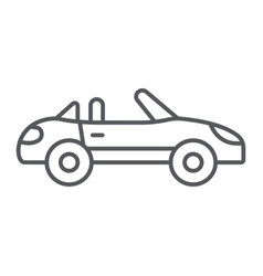 cabriolet thin line icon transport and drive vector image