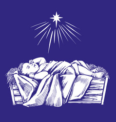 christmas story christmas night bajesus in vector image