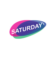 Colorful saturday icon vector
