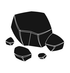 Copper ore icon in black style isolated on white vector