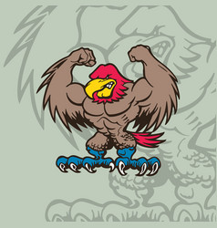 eagle mascot character cartoon character vector image
