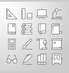 Education school university thin line icon vector
