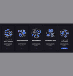 Energy secure units onboarding mobile app page vector