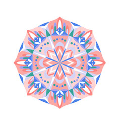 ethnic mandala yoga mat print vector image
