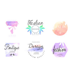 Fashion boutique logo design templates collection vector