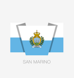 flag of san marino flat icon waving flag with vector image