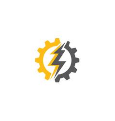 Flash thunder bolt gear vector
