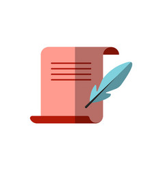 Flat icon medieval letter for diploma vector