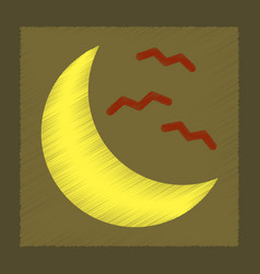 flat shading style icon halloween moon bats vector image