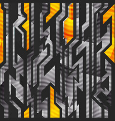 geometric pattern with metal effect vector image
