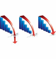 graph downturn vector image