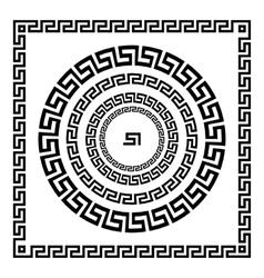 Greek Ornament Circle ornament meander Round vector