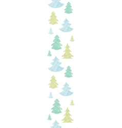 Green blue Christmas trees silhouettes textile vector image