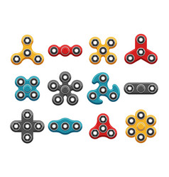hand spinner toys flat icons vector image