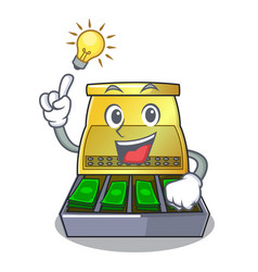 have an idea cartoon cash register with a money vector image