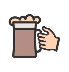 Holding Beer Glass vector