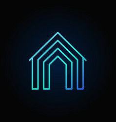 Home concept blue icon vector