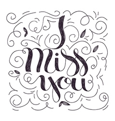 i miss you card vector image