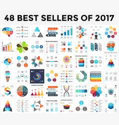 Infographics set 48 best sellers of 2018 vector
