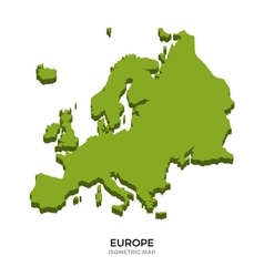 Isometric map of Europe detailed vector