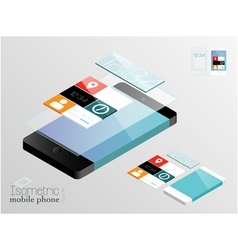 Isometric mobile phone vector image