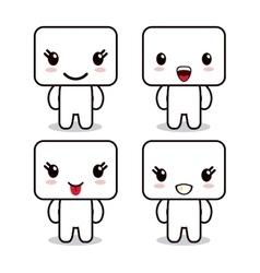 Kawaii icon Cube Cartoon design graphic vector