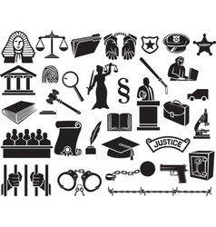 Law and Justice Icon Set vector image