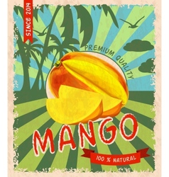 Mango retro poster vector image