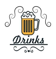 menu drinks service icon vector image