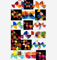 Minimalistic geometric banners set vector
