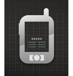 Mobile phone black technology design vector image