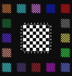 Modern Chess board icon sign Lots of colorful vector image