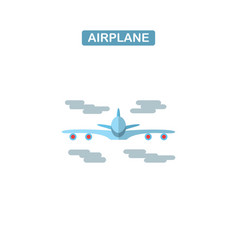 modern line icon of airplane flight vector image