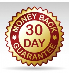 money back guarantee label vector image