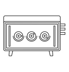 musical equipment icon outline style vector image