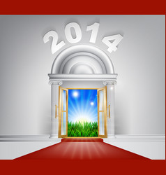 New year new dawn door 2014 vector