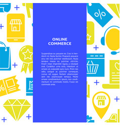 online commerce banner in flat style with place vector image