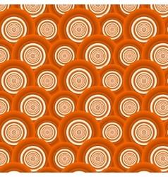 Pattern of orange circles vector