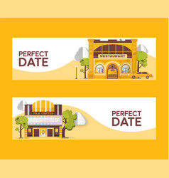 Perfect date set of banners vector
